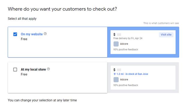 Create Google Merchant Center Account 1