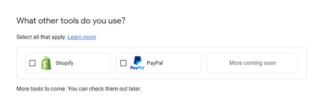 Create Google Merchant Center Account 2