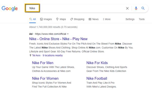 Google Own brand campaign
